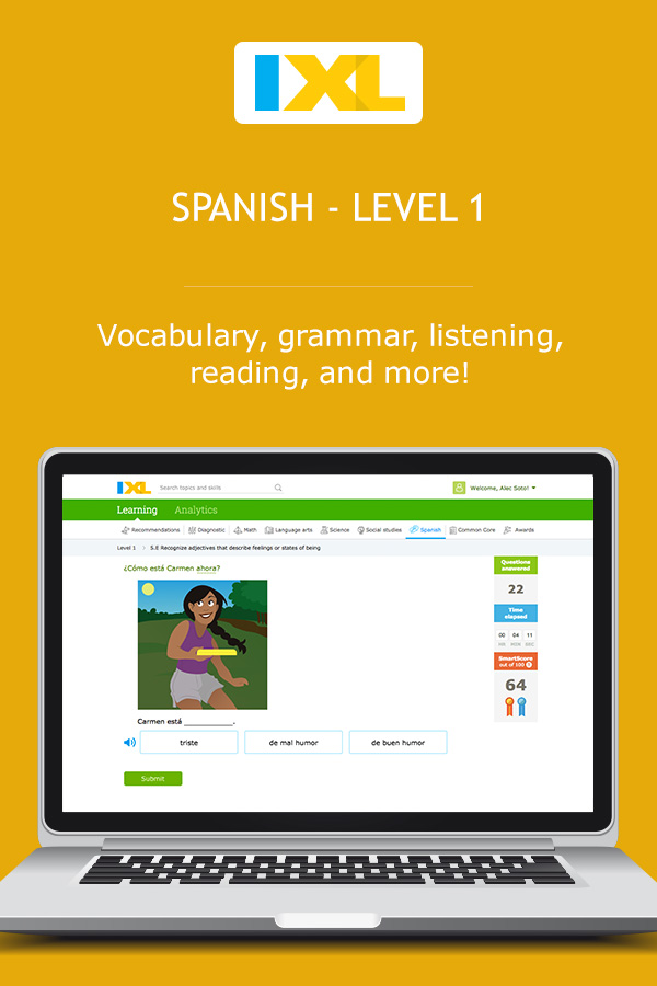 IXL - The Spanish alphabet (Level 1 Spanish practice)