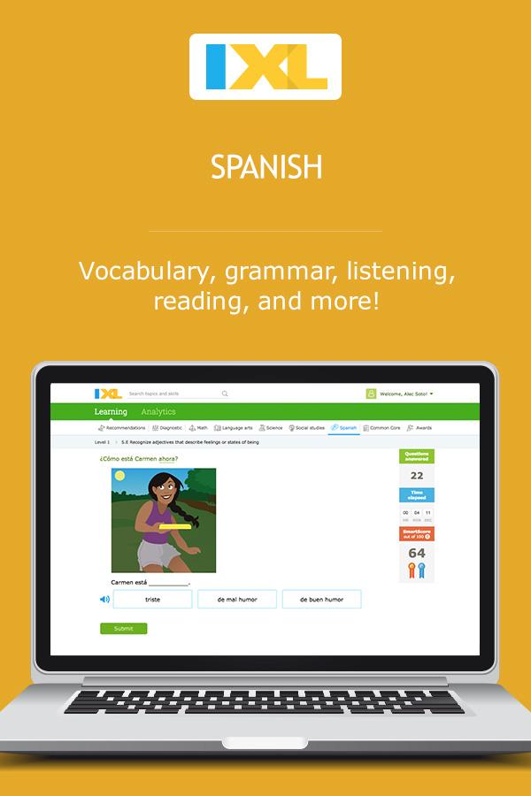 IXL Spanish   Learn Spanish online