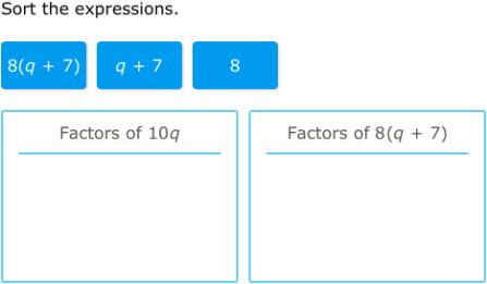 IXL - Factors of linear expressions (7th grade math practice)