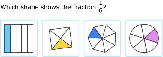 Ixl Simple Fractions Which Shape Matches The Fraction