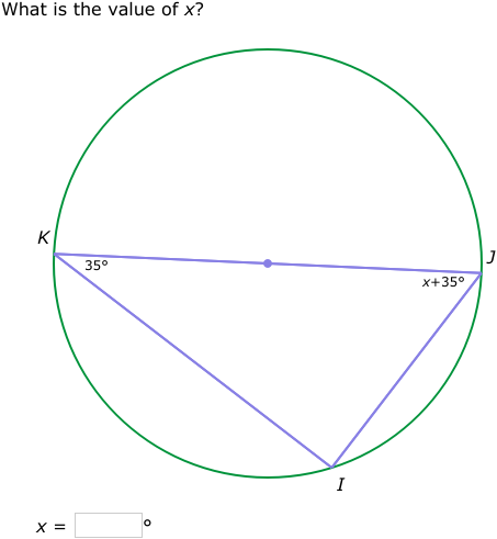 IXL - Angles in inscribed right triangles (Geometry practice)
