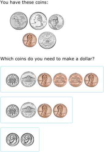 ixl how much more to make a dollar 2nd grade math