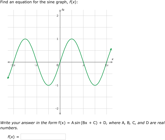 Ixl Write Equations Of Sine Functions From Graphs Precalculus
