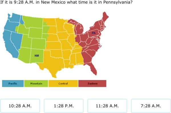IXL - Time zones (5th grade math practice)