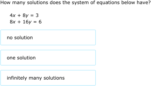 IXL - Find the number of solutions to a system of ...