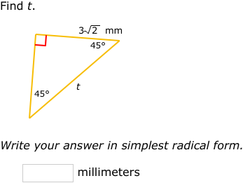 IXL - Special right triangles (Geometry practice)