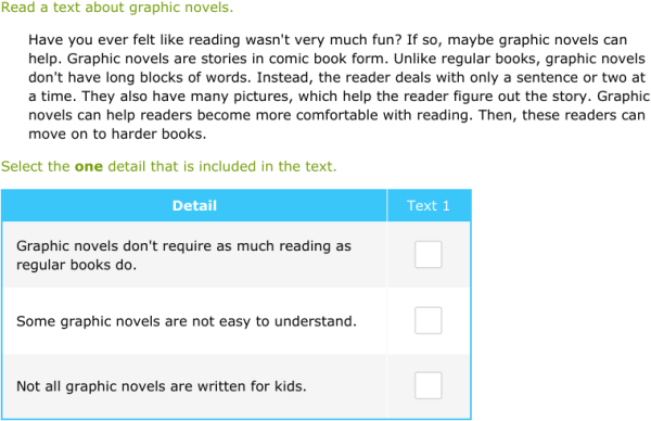 IXL | Compare information from two texts | 3rd grade language arts