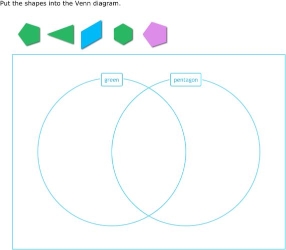 Venn Diagram Shape Sorting: IXL - Sort shapes into a Venn diagram (3rd grade math practice),Chart