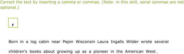 IXL - Commas: review (7th grade language arts practice)