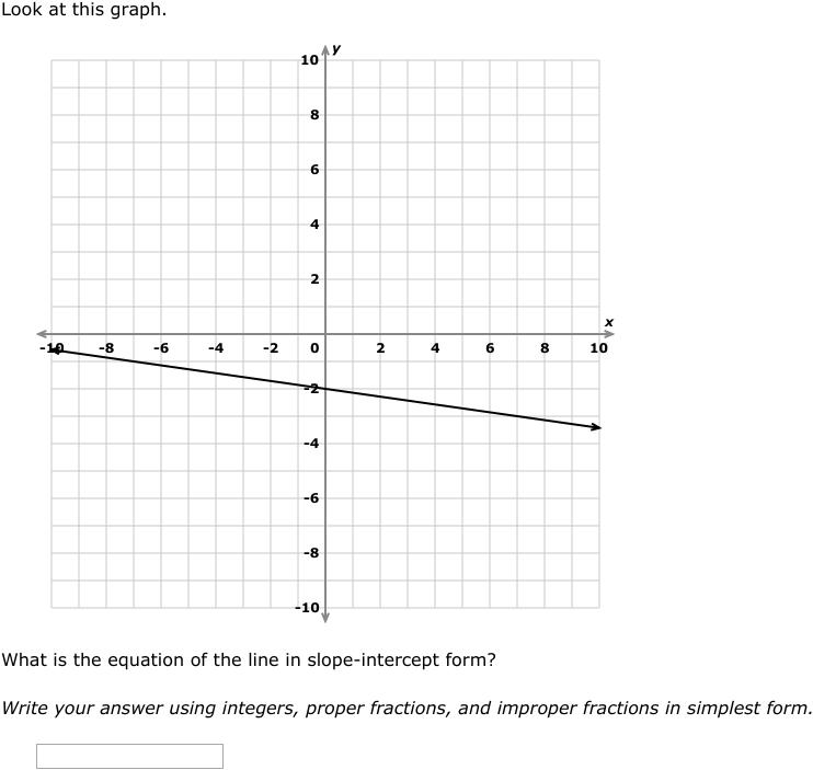 intercept form graph  IXL - Slope-intercept form: write an equation from a graph ...