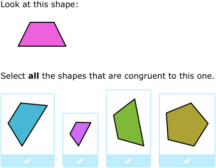 IXL - Identify congruent and similar figures (5th grade math practice)