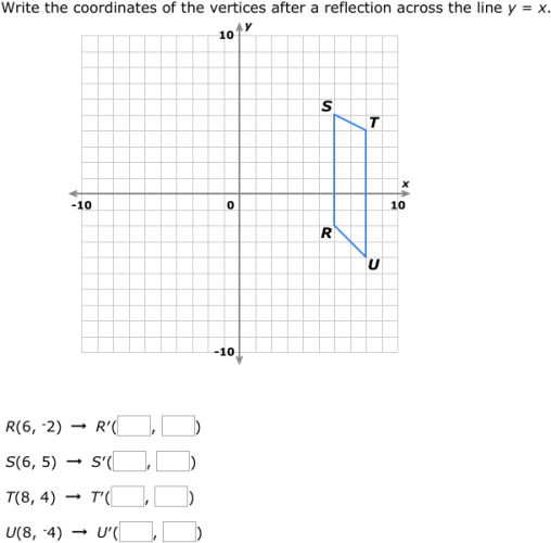 IXL Reflections find the coordinates Geometry practice – Reflections Geometry Worksheet