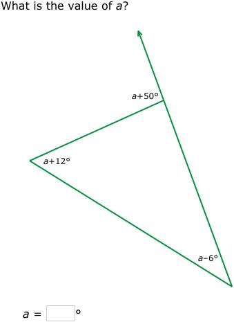 IXL - Exterior Angle Theorem (Geometry practice)