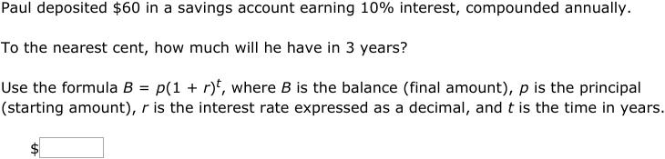 Ixl Compound Interest Word Problems Algebra 2 Practice