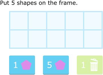 c7show numbers on ten frames up to 10 c7