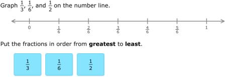 IXL - Order fractions (3rd grade math practice)