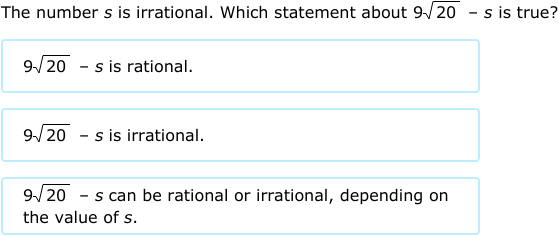 IXL Properties of operations on rational and irrational numbers – Classifying Rational and Irrational Numbers Worksheet