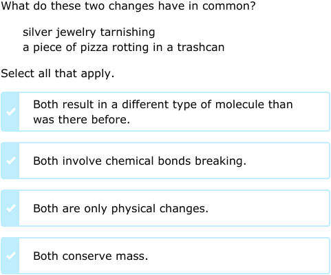 IXL - Compare physical and chemical changes (5th grade science ...