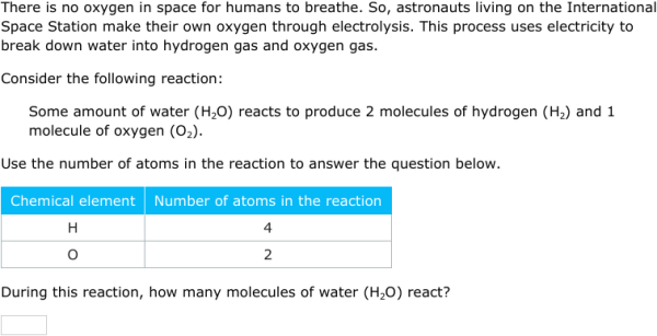 IXL | Count atoms and molecules in chemical reactions | 8th grade