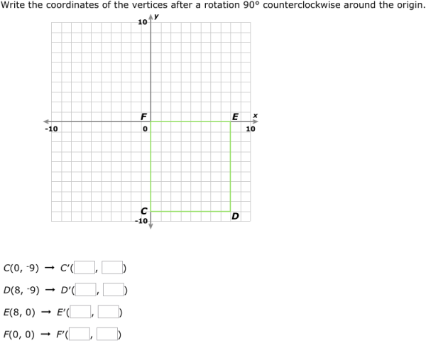 IXL Rotations find the coordinates Geometry practice – Geometry Rotations Worksheet