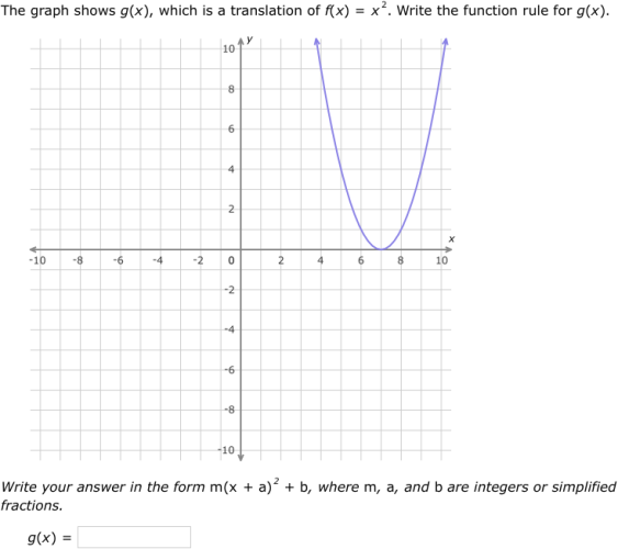 Ixl Transformations Of Quadratic Functions Algebra 1 Practice