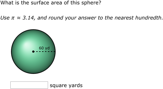 Ixl Surface Area And Volume Of Spheres Geometry Practice