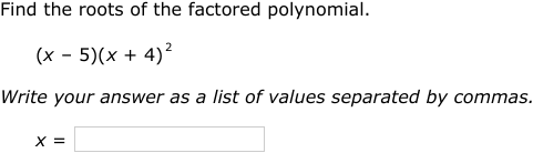 IXL - Find the roots of factored polynomials (Precalculus