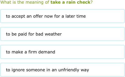 take a rain check meaning
