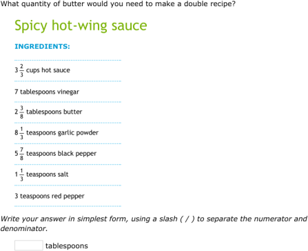 IXL - Divide fractions by whole numbers in recipes (5th grade math ...