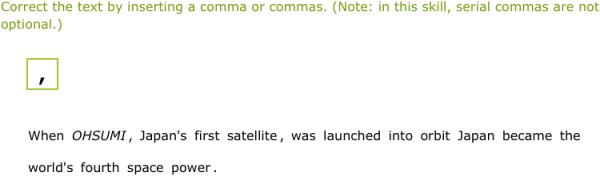 proper use of commas