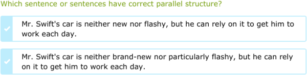 IXL | Identify sentences with parallel structure | 12th