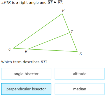 IXL - Identify medians, altitudes, angle bisectors, and ...
