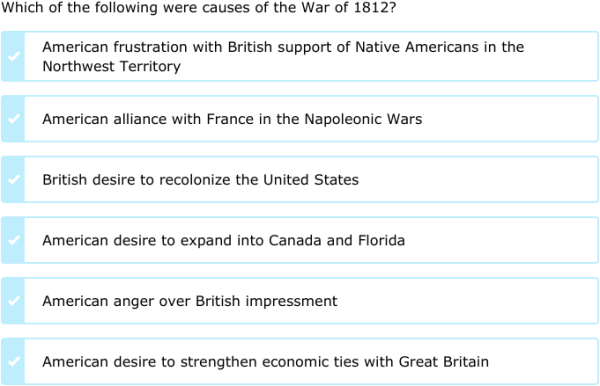 reasons for the war of 1812