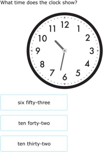 IXL | Match clocks and times | 3rd grade math