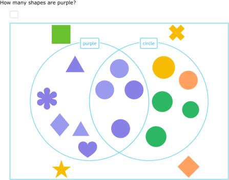 IXL - Sort shapes into a Venn diagram (2nd grade math practice)