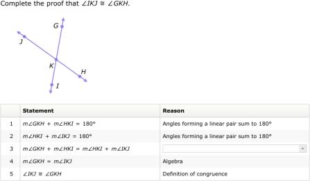 IXL - Proofs involving angles (Geometry practice)