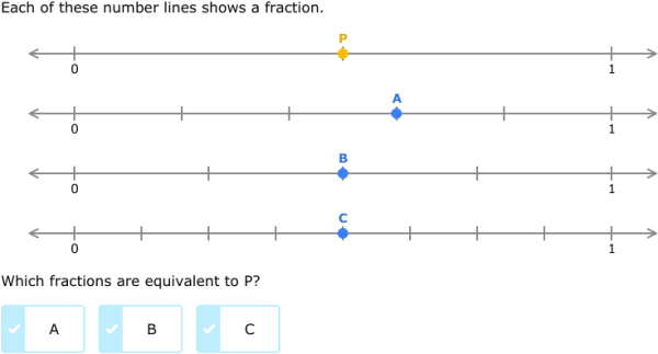 ... equivalent fractions on number lines (3rd grade math practice