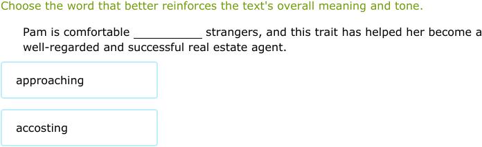 IXL | Compare passages for tone | 9th grade language arts