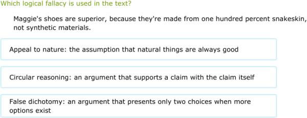 Ixl Classify Logical Fallacies 6th Grade Language Arts