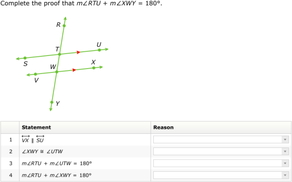 IXL - Proofs involving parallel lines I (Geometry practice)
