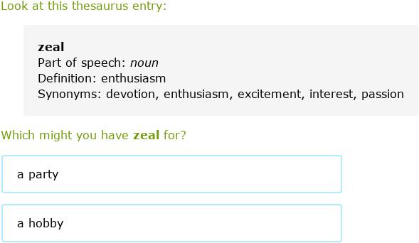 Ixl Use Thesaurus Entries 4th Grade Language Arts