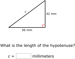 Ixl Pythagorean Theorem Find The Length Of The Hypotenuse 7th Grade Math