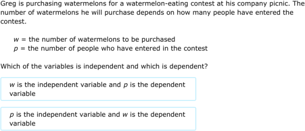 IXL Identify independent and dependent variables 7th grade math – Independent Vs Dependent Variable Worksheet
