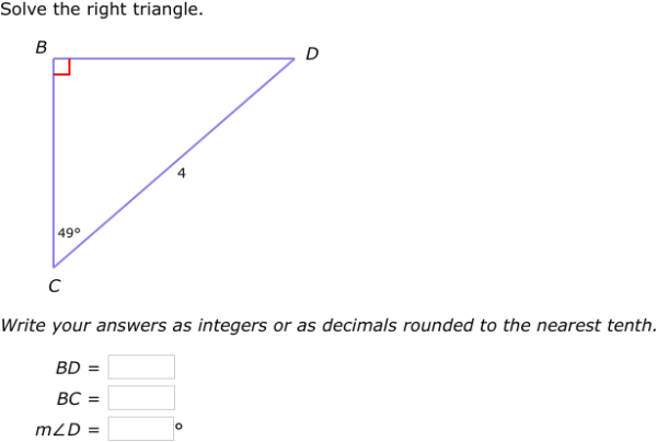 IXL Solve a right triangle Algebra 1 practice – Solving Right Triangles Worksheet Answers