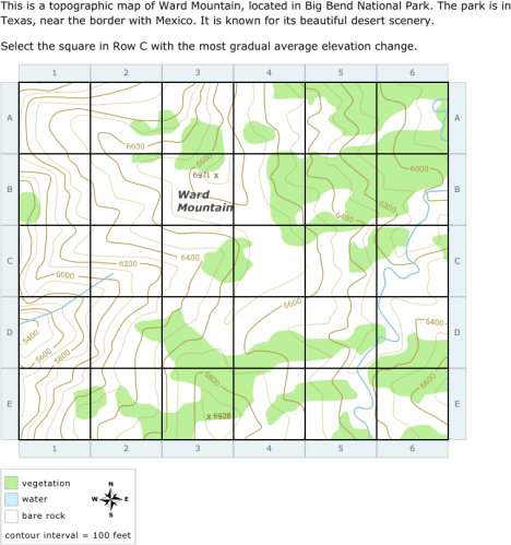 IXL | Select parts of a topographic map | 7th grade science