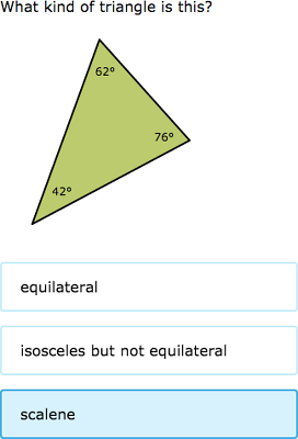 ixl scalene isosceles and equilateral triangles 3rd