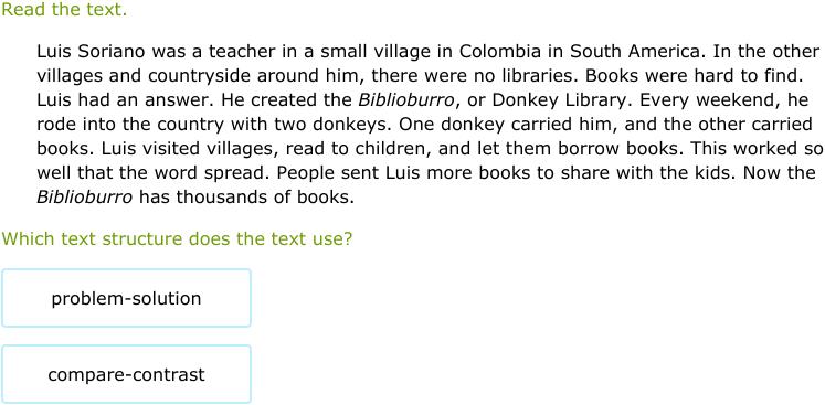 IXL | Identify text structures | 5th grade language arts