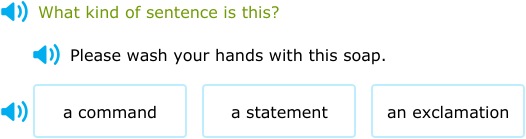 what is a command sentence
